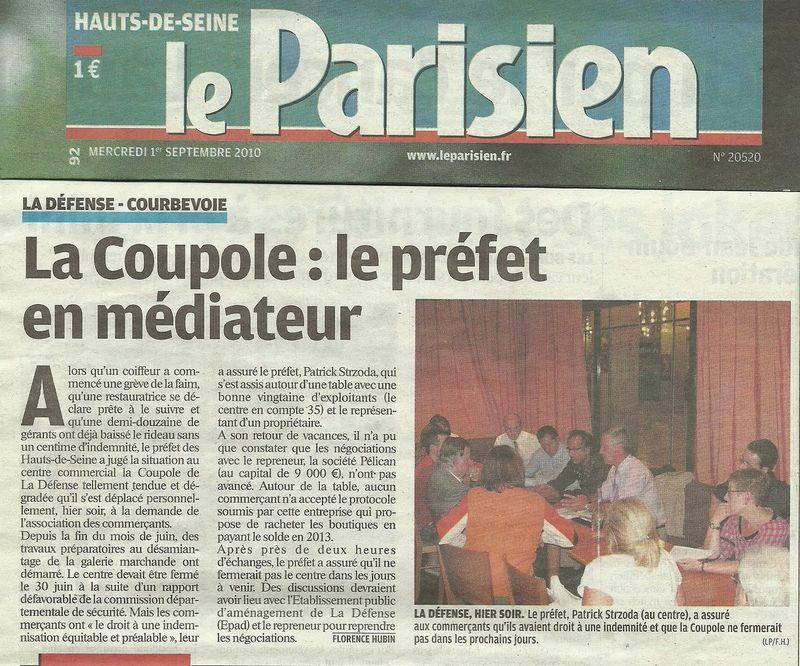 Le Parisien du 1er Septembre 2010 PREFET