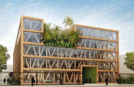 Lun des premiers immeubles de bureaux à énergie positive sera